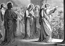 De afdaling van de Heilige Geest stock illustratie