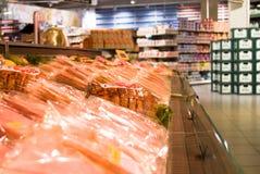 De afdeling van het vlees stock afbeelding