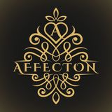 De affectie is een Klassieke Luxueuze Mooie Brief een Embleem vector illustratie