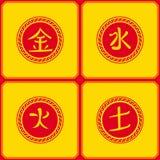 De affiche is een Chinese reeks symbolen Royalty-vrije Stock Fotografie