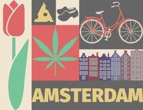 De affiche van Amsterdam Stock Foto's