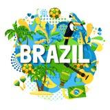 De Affiche van Brazilië Carnaval stock illustratie