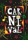 De Affiche van Brazili? Carnaval vector illustratie
