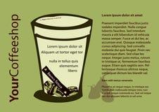 De affiche van Coffeeshop Stock Foto