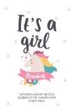 De Affiche van de babydouche Royalty-vrije Stock Foto