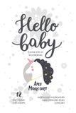 De Affiche van de babydouche Royalty-vrije Stock Afbeeldingen