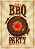 De Affiche van de barbecuepartij Stock Afbeeldingen