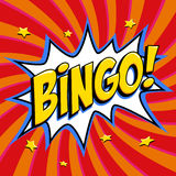 De affiche van de Bingoloterij De achtergrond van het loterijspel De vorm van de de stijlklap van het strippaginapop-art op een r royalty-vrije stock afbeelding