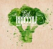 De affiche van de broccoliwaterverf Royalty-vrije Stock Foto
