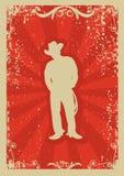 De affiche van de cowboy royalty-vrije illustratie