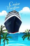 De Affiche van de cruisevakantie Stock Afbeelding