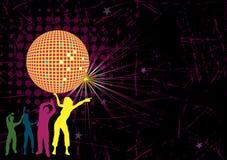 De affiche van de dansclub Stock Foto's