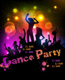 De affiche van de discopartij Stock Afbeelding