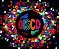 De affiche van de discopartij Stock Foto