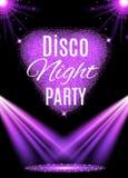 De affiche van de discopartij nightclub royalty-vrije illustratie