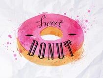 De affiche van de doughnutwaterverf Royalty-vrije Stock Foto