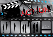 De Affiche van de film Royalty-vrije Stock Afbeeldingen