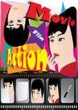 De Affiche van de film - Besluit royalty-vrije illustratie