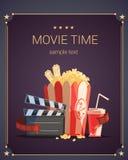 De affiche van de filmtijd Royalty-vrije Stock Foto's