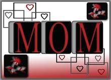 De Affiche van de Kaart van de Valentijnskaart van de Dag van de Moeders van de Gift van het mamma Royalty-vrije Stock Foto's
