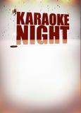 De affiche van de karaokemuziek Stock Fotografie
