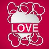 De affiche van de liefde Stock Afbeeldingen