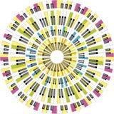 De affiche van de muziek Stock Fotografie