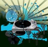 De affiche van de muziek. DJ Stock Afbeeldingen