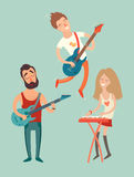 De affiche van de muziekpartij, Stock Afbeelding