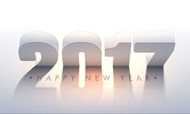 De Affiche van de nieuwjaarpartij met 3D Teksten Stock Afbeelding