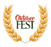De affiche van de Oktober fest uitnodiging vector illustratie