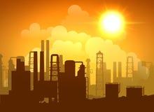 De Affiche van de olieraffinaderij Stock Foto