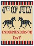 De affiche van de onafhankelijkheidsdag Stock Foto