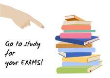 De affiche van de onderzoekstest Examenvoorbereiding Stock Foto's