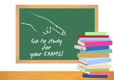 De affiche van de onderzoekstest Examenvoorbereiding Stock Foto