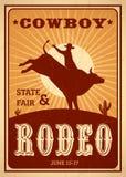 De affiche van de reclamerodeo royalty-vrije illustratie