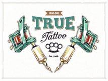 De Affiche van de tatoegeringsstudio Stock Fotografie