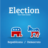 De affiche van de verkiezing Stock Foto's