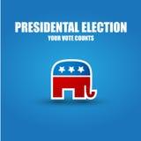 De affiche van de verkiezing Stock Foto