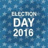 De affiche van de verkiezingsdag 2016 de V.S. Stock Afbeeldingen