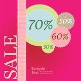 De affiche van de verkoop Stock Afbeeldingen