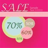 De affiche van de verkoop Stock Foto's