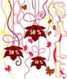 De affiche van de verkoop Stock Afbeelding