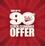 De Affiche van de verkoopbevordering Stock Foto's