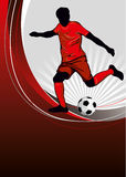 De affiche van de voetbal Stock Fotografie