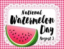 De Affiche van de watermeloendag Stock Foto's