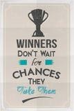 De Affiche van de winnaarsmotivatie Stock Fotografie