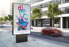 de affiche van DJ fest op de stad royalty-vrije illustratie