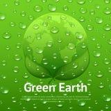 De Affiche van Eco van waterdalingen Stock Fotografie