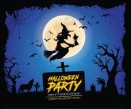 De affiche van Halloween Stock Afbeeldingen